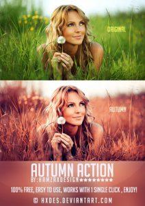 Preset Autumn Photoshop Action for lightroom
