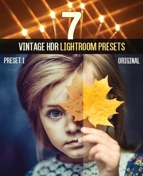 Preset 7 Vintage HDR LR Presets for lightroom