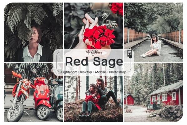 Preset Red Sage (desktop-and-mobile) for lightroom