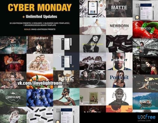 Preset Cyber Monday 95 OFF Shop Bundle for lightroom