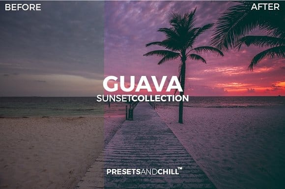 Preset PRESETANDCHILL SUNSET COLLECTION for lightroom