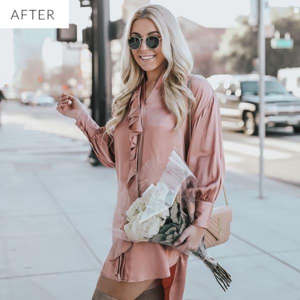 Preset millennial pink for lightroom