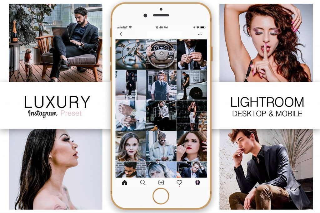 Preset Luxury Instagram Blogger Preset for lightroom
