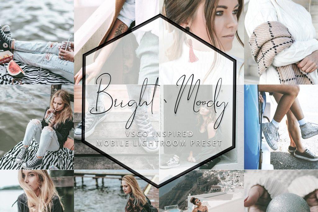 Preset Bright & Moody for lightroom