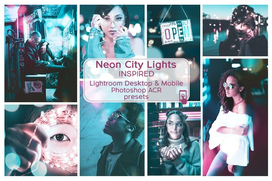 Preset Lr Ps Presets ACR Neon City Lights for lightroom