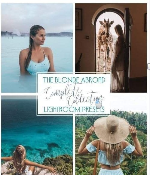 Preset The Blonde Abroad Complete Collection for lightroom