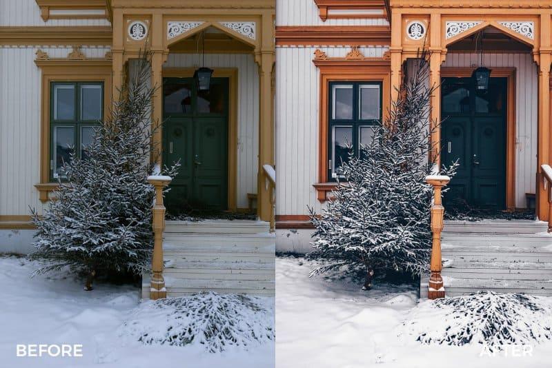 Preset Festive Winter Preset Bundle for lightroom