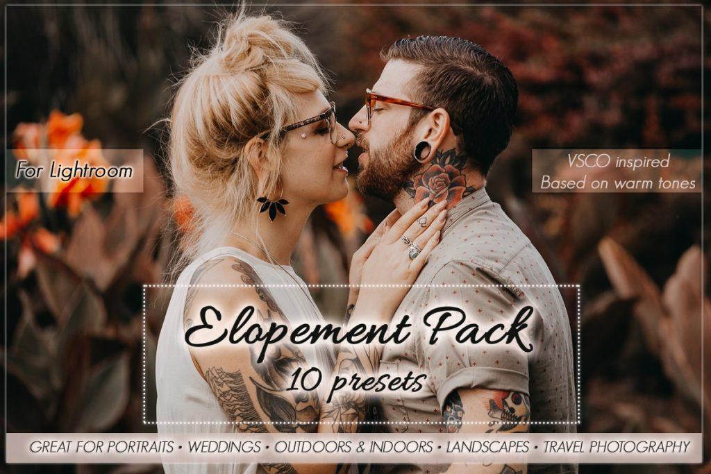 Preset Elopement Preset Pack for lightroom