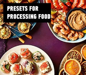 presets for processing food