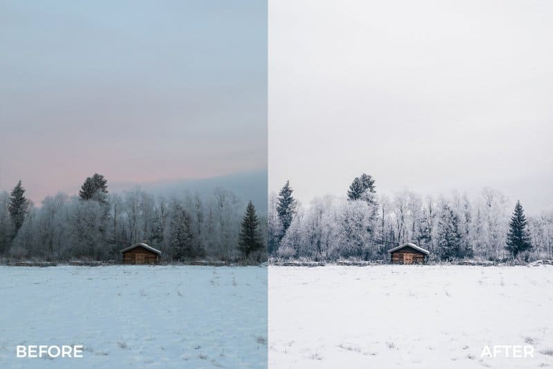 Preset Festive Winter Preset Bundle for lightroom