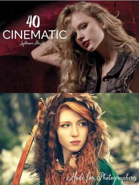 Preset 40 Cinematic Presets for lightroom