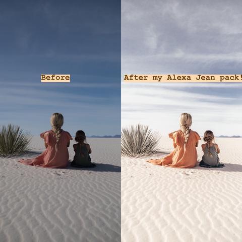 Preset Alexa Jean Photo Desktop for lightroom