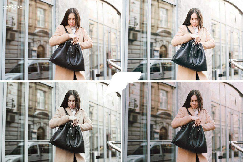 Preset Fashion Blogger Instagram Presets for lightroom