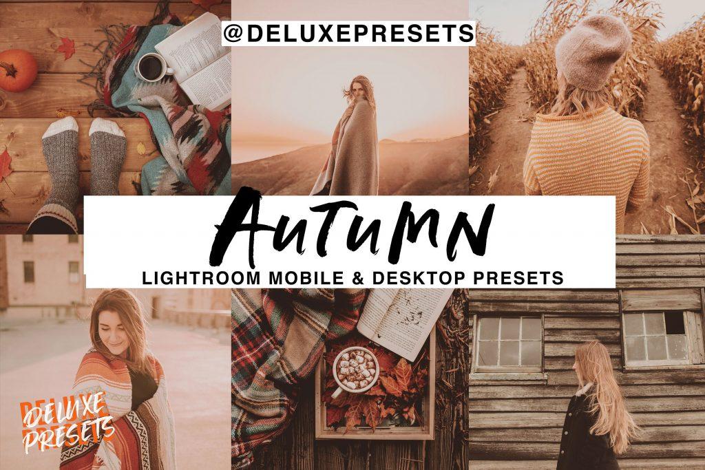 Preset Autumn Lightroom Mobile Desk Presetm for lightroom