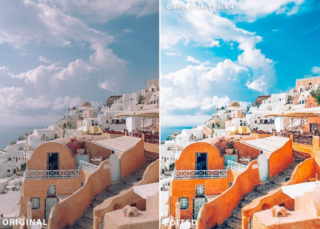 Preset Greece Travel Presets for lightroom