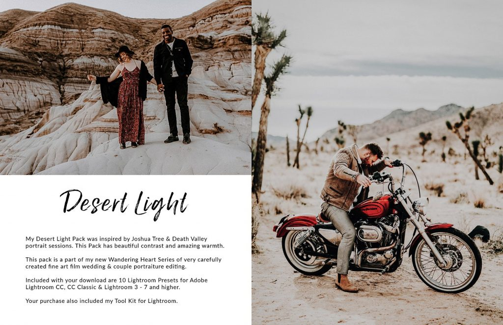 Preset Desert Light LR Preset Pack for lightroom