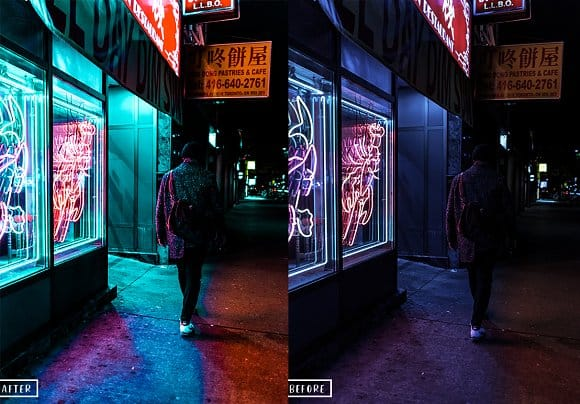 Preset Neon Light Lightroom Presets for lightroom