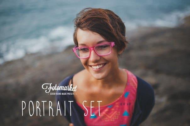 Preset Creativemarket Portrait Lightroom Presets for lightroom