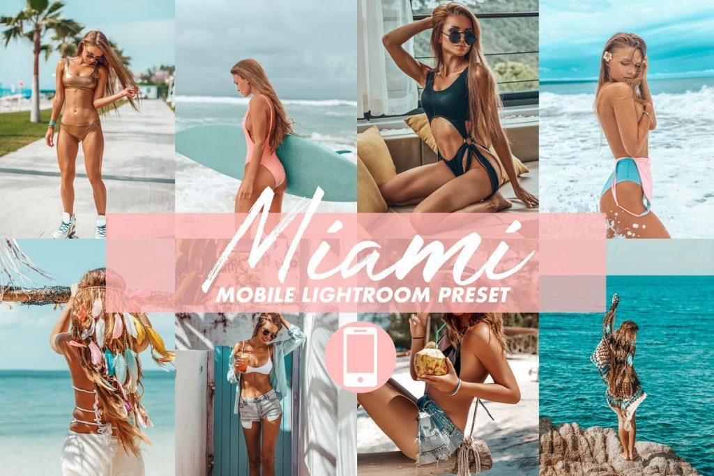 Preset Miami Lightroom Presets for lightroom