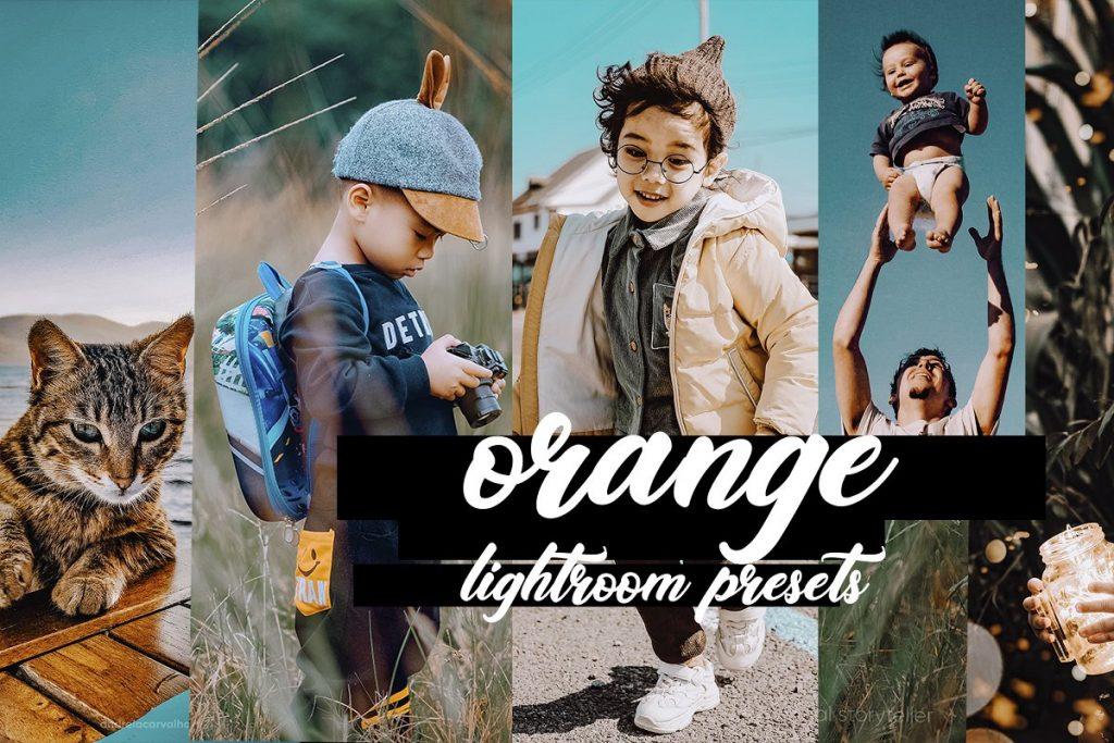 Preset Orange Presets for lightroom