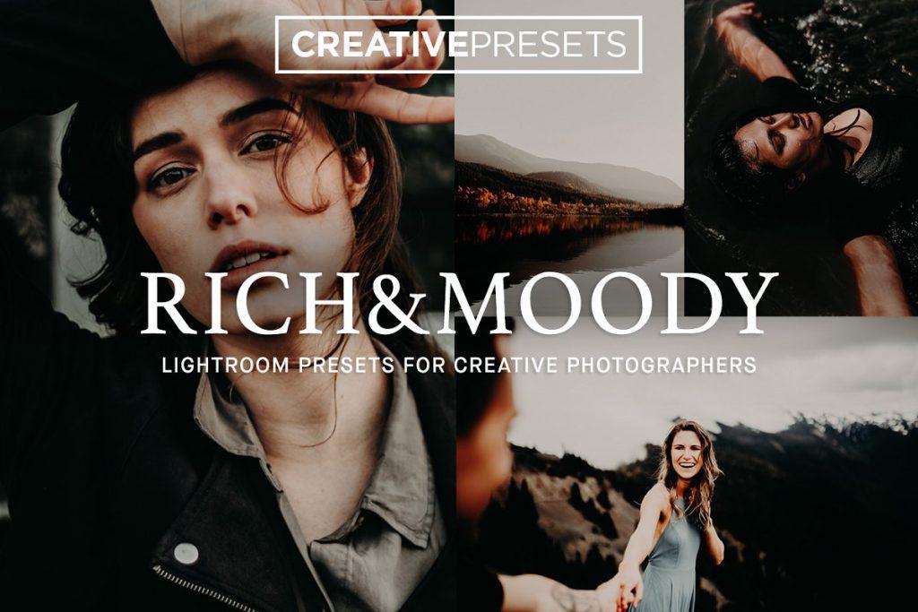 Preset Rich & Moody Lightroom Presets for lightroom