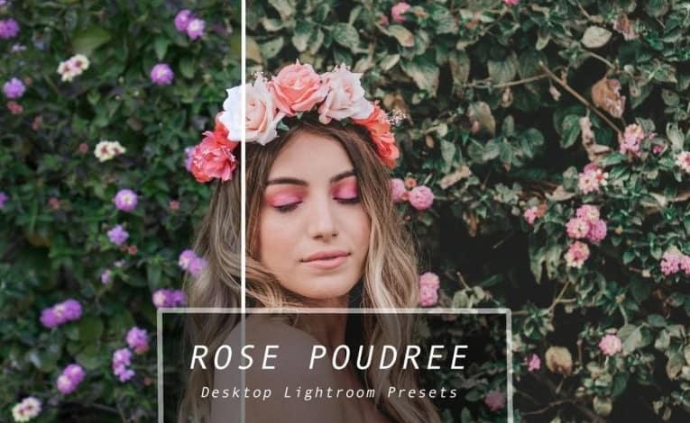 Preset Rose Poudree Presets for lightroom