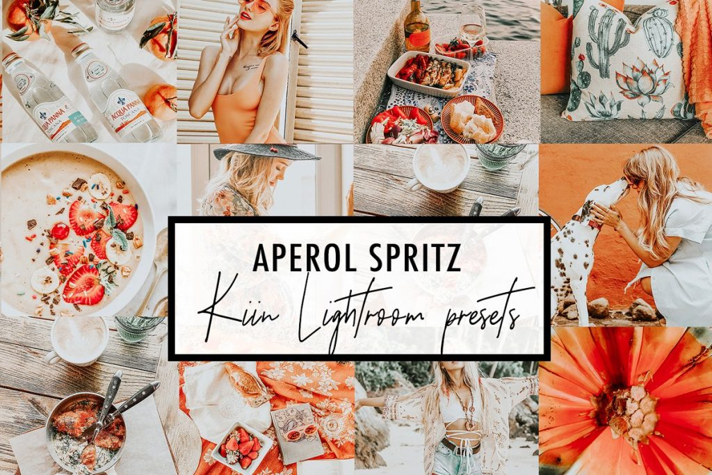 Preset Aperol Spritz Presets for lightroom