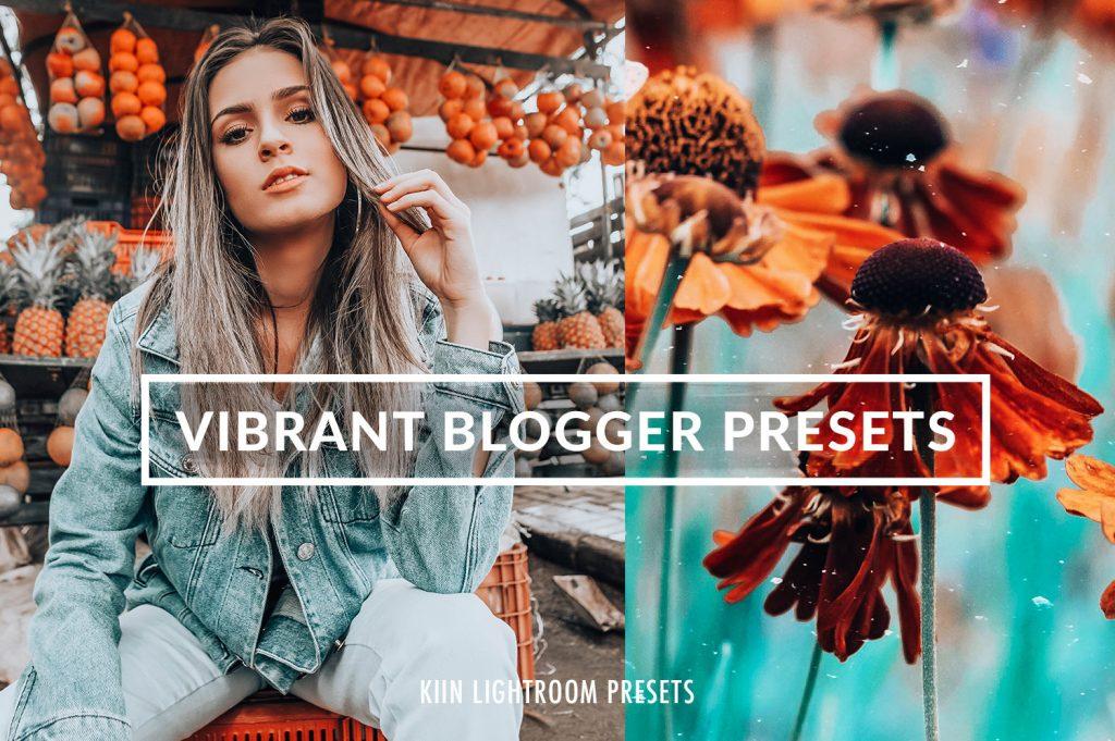 Preset Vibrant Blogger Presets for lightroom
