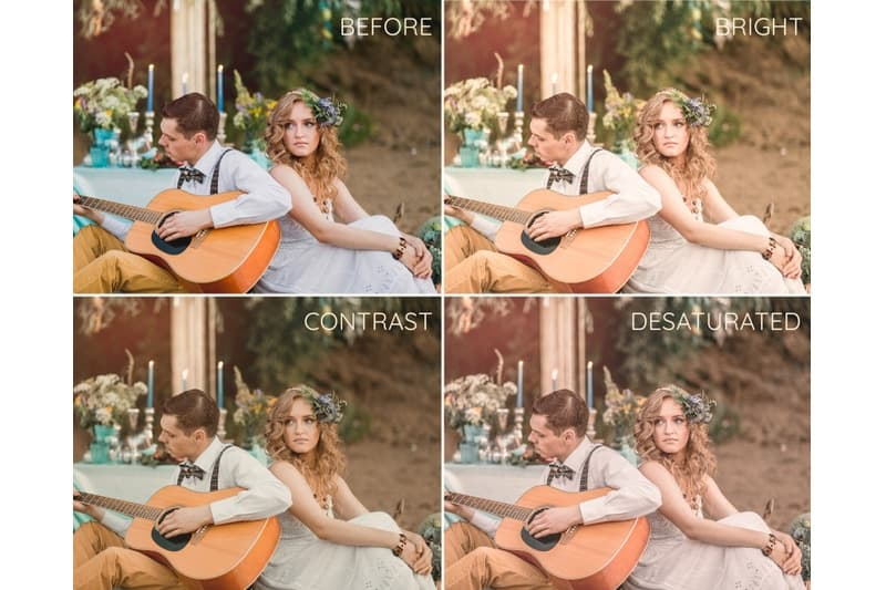Preset Boho Wedding Lightroom Presets for lightroom