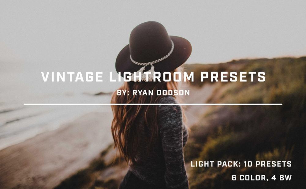 Preset Vintage Light Pack for lightroom