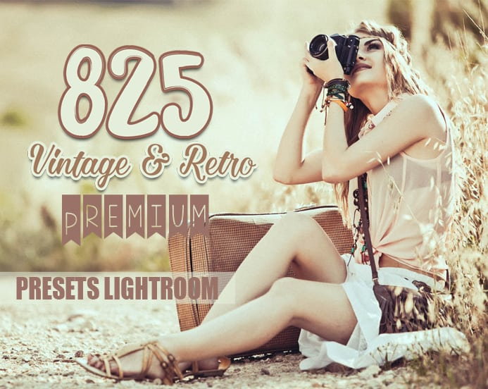 Preset 825 Premium Vintage Retro Preset for lightroom