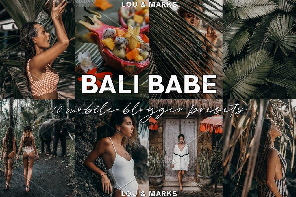 Preset Bali Babe Blogger Lightroom Presets for lightroom