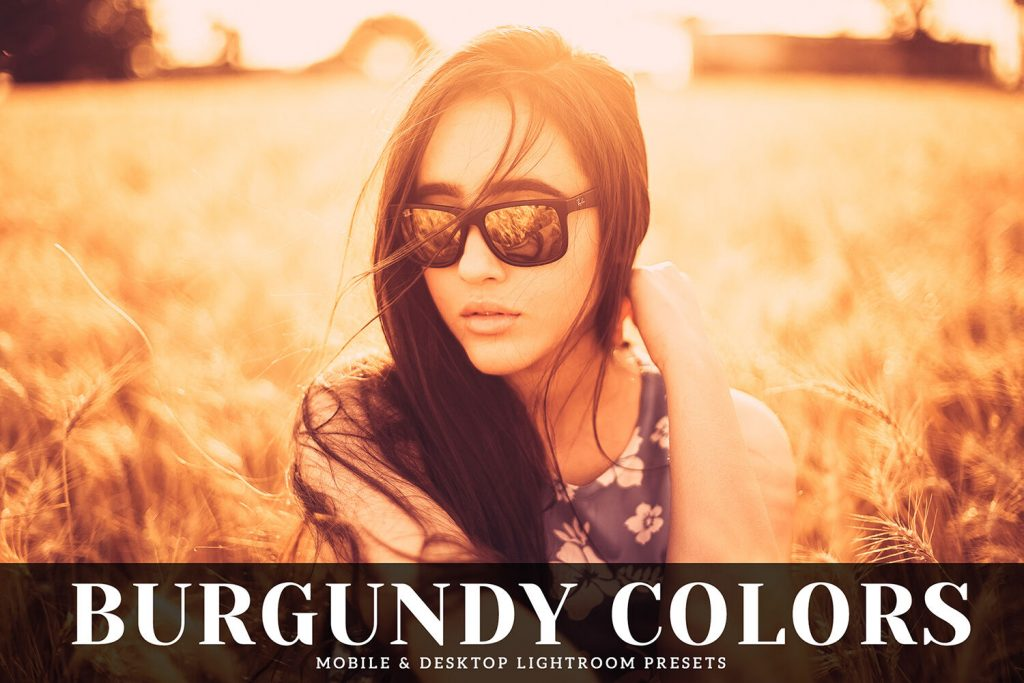Preset Burgundy Colors Preset for lightroom