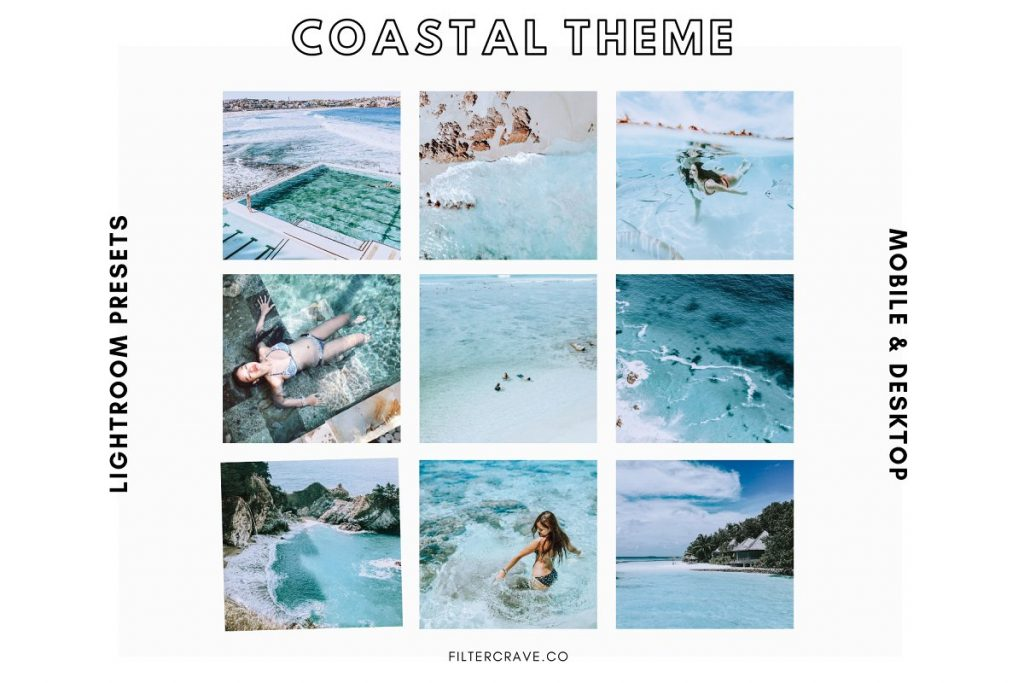 Preset Coastal Theme Mobile Preset for lightroom
