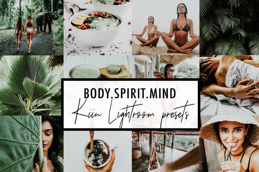 Preset Body, Spirit, Mind - Kiin Lightroom Presets for lightroom