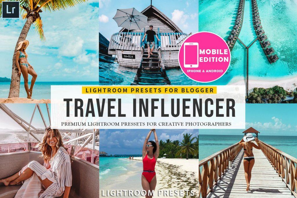 Preset Travel Influencer Mobile Presets for lightroom