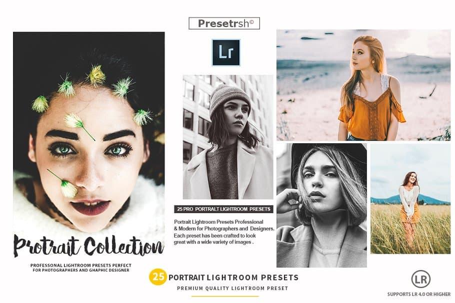 Preset 25 Portraits Collection Lightroom Presets for lightroom