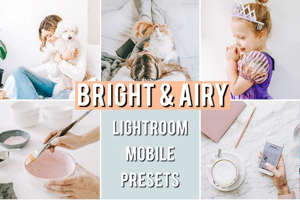 Preset Airy Bright Mobile Preset for lightroom
