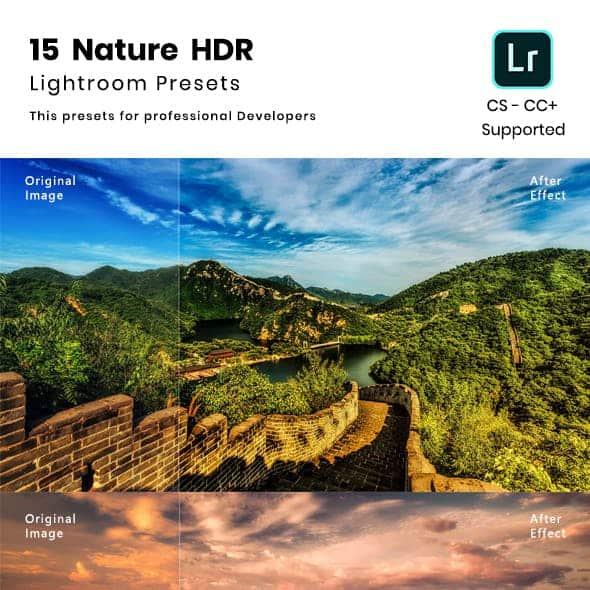 Preset 15 Nature HDR Lightroom preset for lightroom