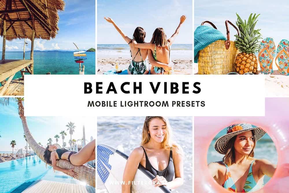 Preset Beach Vibes Mobile Lightroom Presets for lightroom