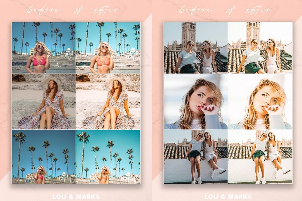 Preset LOUMARKS Vanilla Cream for lightroom