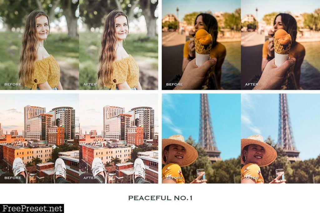 Preset Peaceful Mobile for lightroom