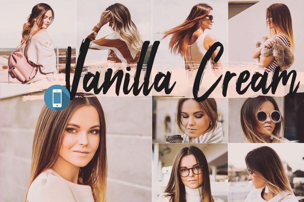Preset Vanilla Cream Theme for lightroom