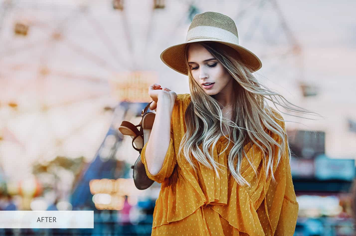 Preset Looks Like Film Kodak Gold for lightroom