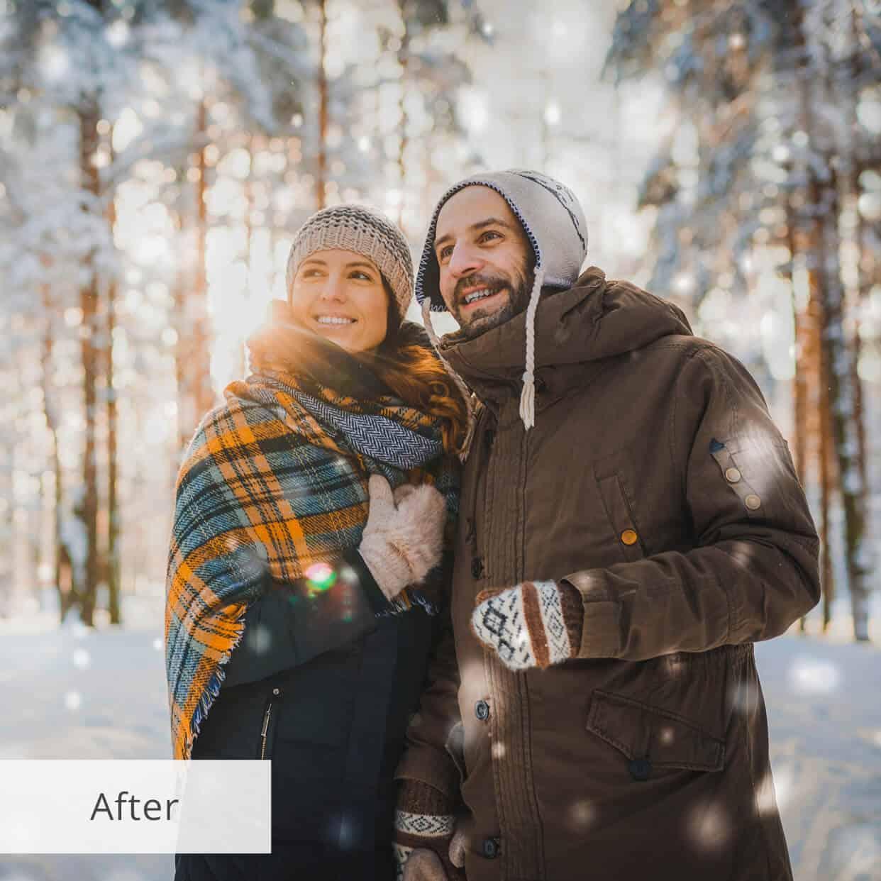 Preset Snow Sunny for lightroom