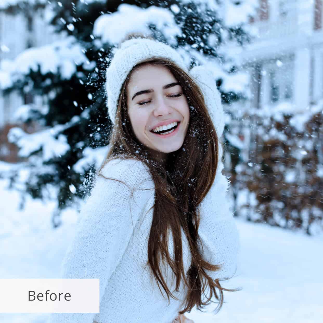 Preset Snow Wind for lightroom