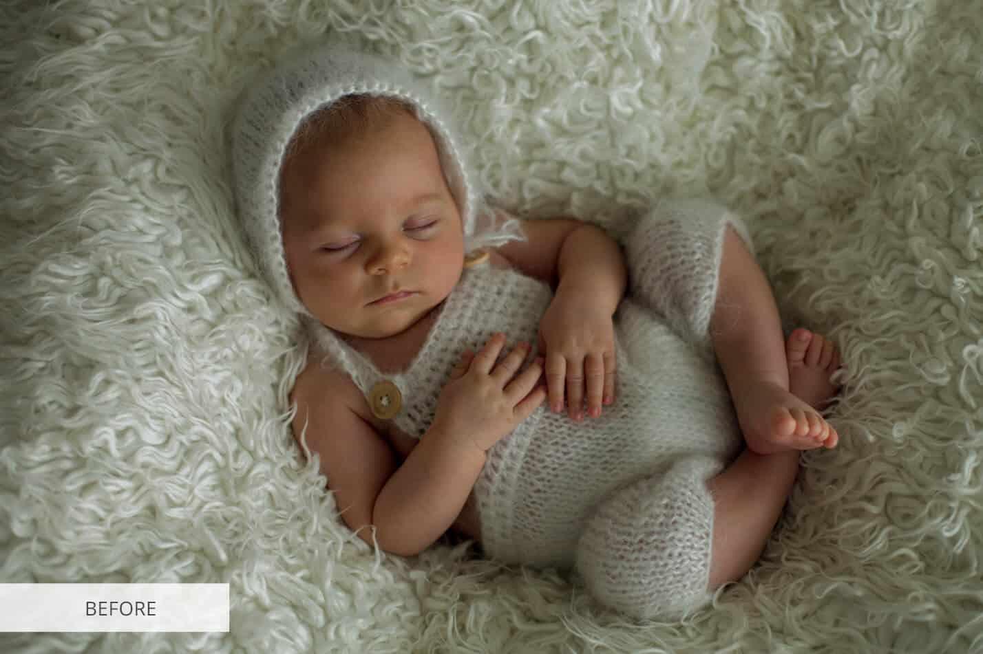 Preset Newborn Sepia for lightroom