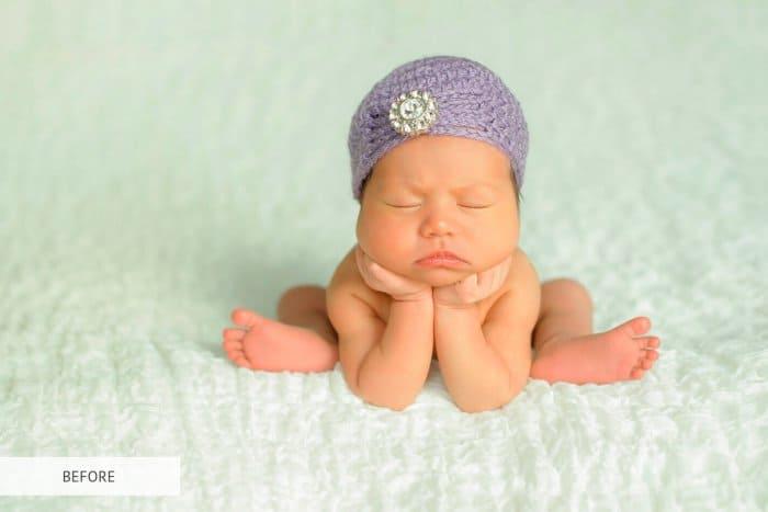Preset Newborn B&W Soft for lightroom