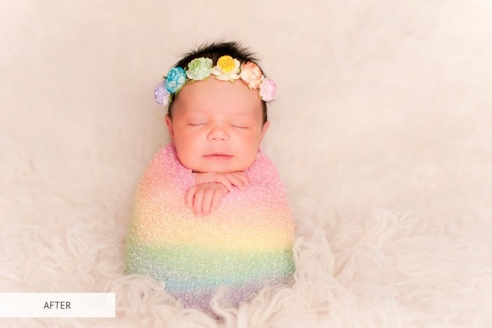 Preset Newborn Warm Light for lightroom