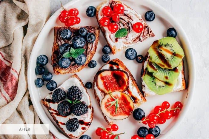Preset Food Blueberry for lightroom